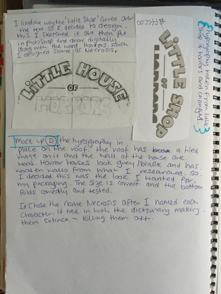 Little House of Horrors Design sketch