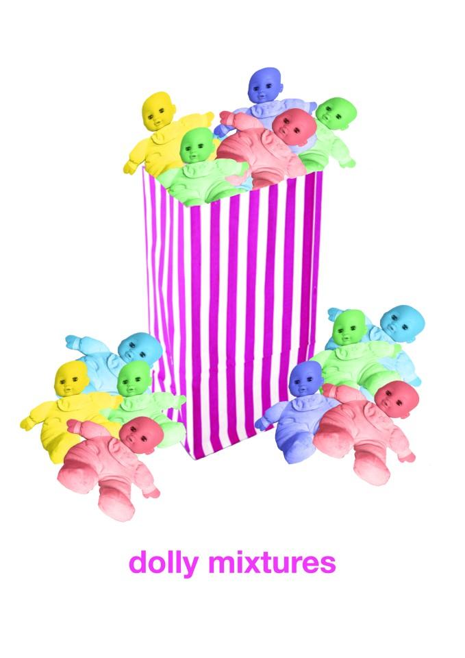visual pun dolly mixtures.jpg