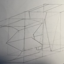 hand drawing a modular typograph